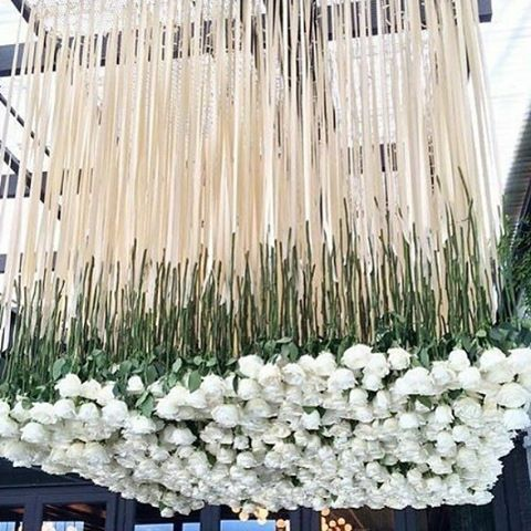 This Is Definitely Is How You Hang A Floral Chandelier