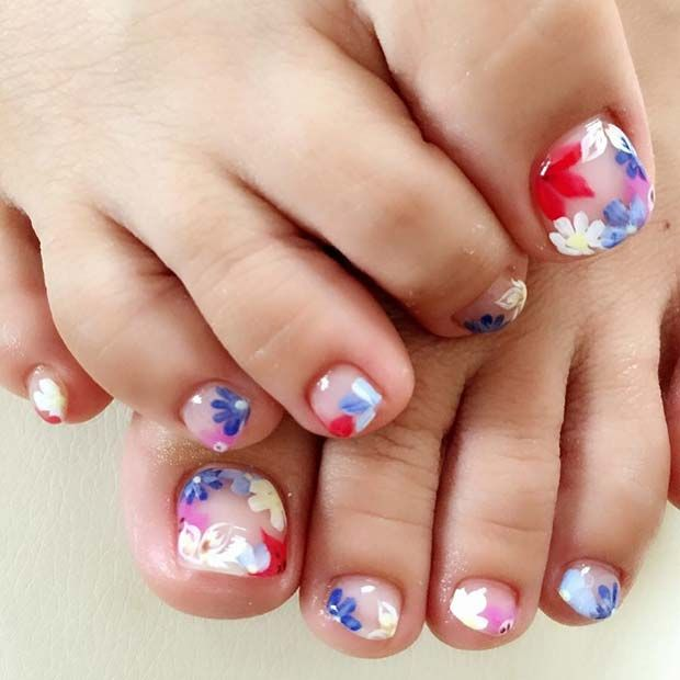 25 Eye Catching Pedicure Ideas For Spring Toe Nail Designs Toe