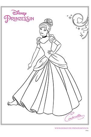 Disney Prinzessin Cinderella Disney Malvorlagen Disney Prinzessinnen Zeichnungen Ausmalbilder Disney