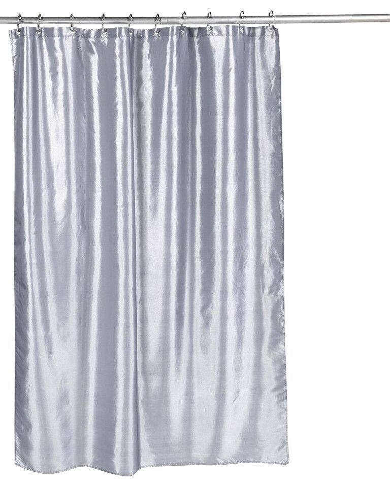 Shimmer Faux Silk Fabric Shower Curtain Pewter Curtains Sweet