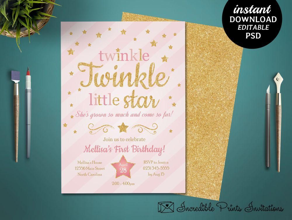 printable twinkle little star girl