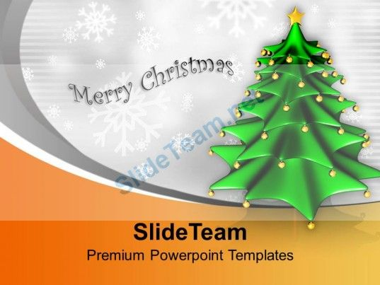 Christmas Tree Background Festival Celebration Powerpoint - christmas powerpoint template