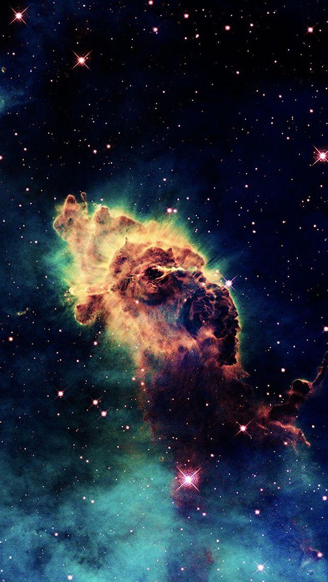 The 1 Iphone5 Skyviews Wallpaper I Just Shared Carina Nebula Fond Ecran Galaxie Espace Univers
