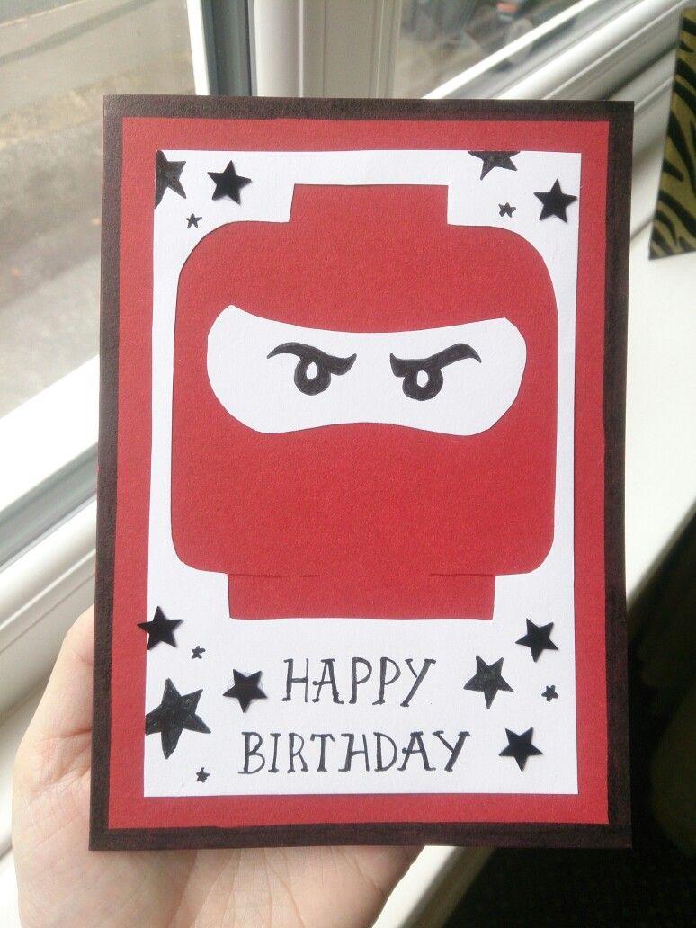 ninjago birthday card  glückwunschkarte geburtstagskarte