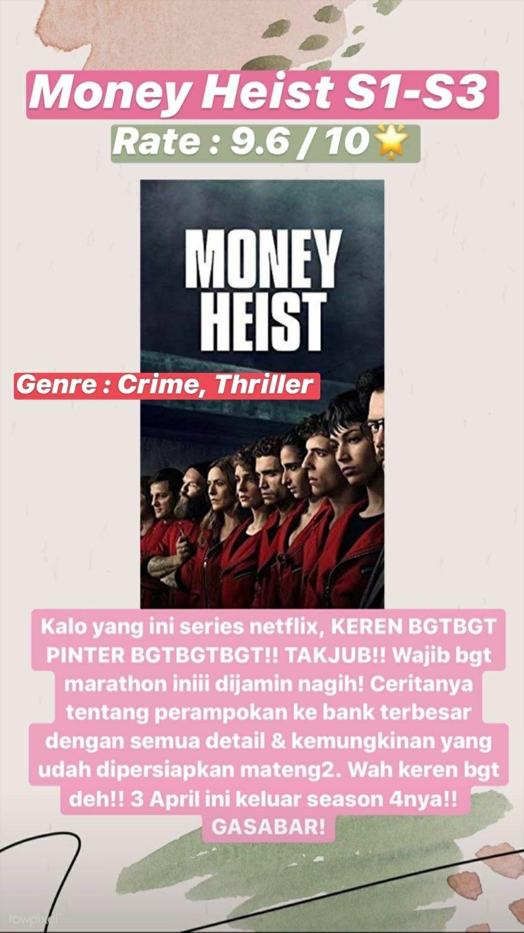 Money Heist Film Rekomendasi Di 2020 Film Remaja Teks Lucu Netflix
