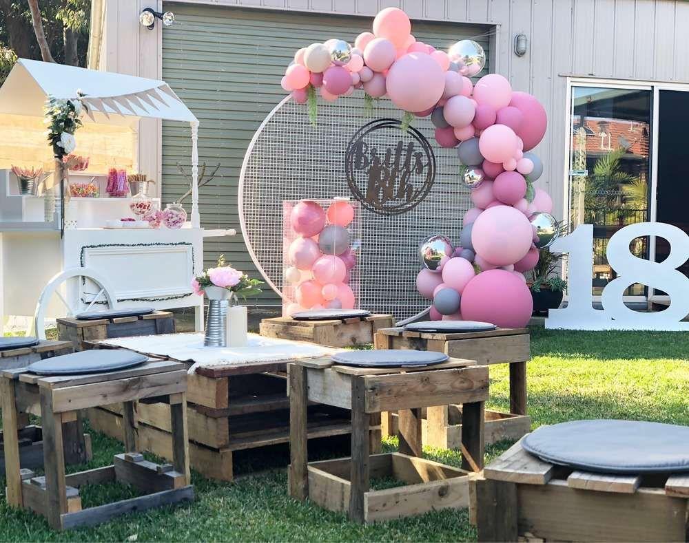 Vintage Boho 18th Birthday Party Ideas Photo 1 Of 5 18th Birthday Party 1st Birthday Decorations 18th Birthday Decorations