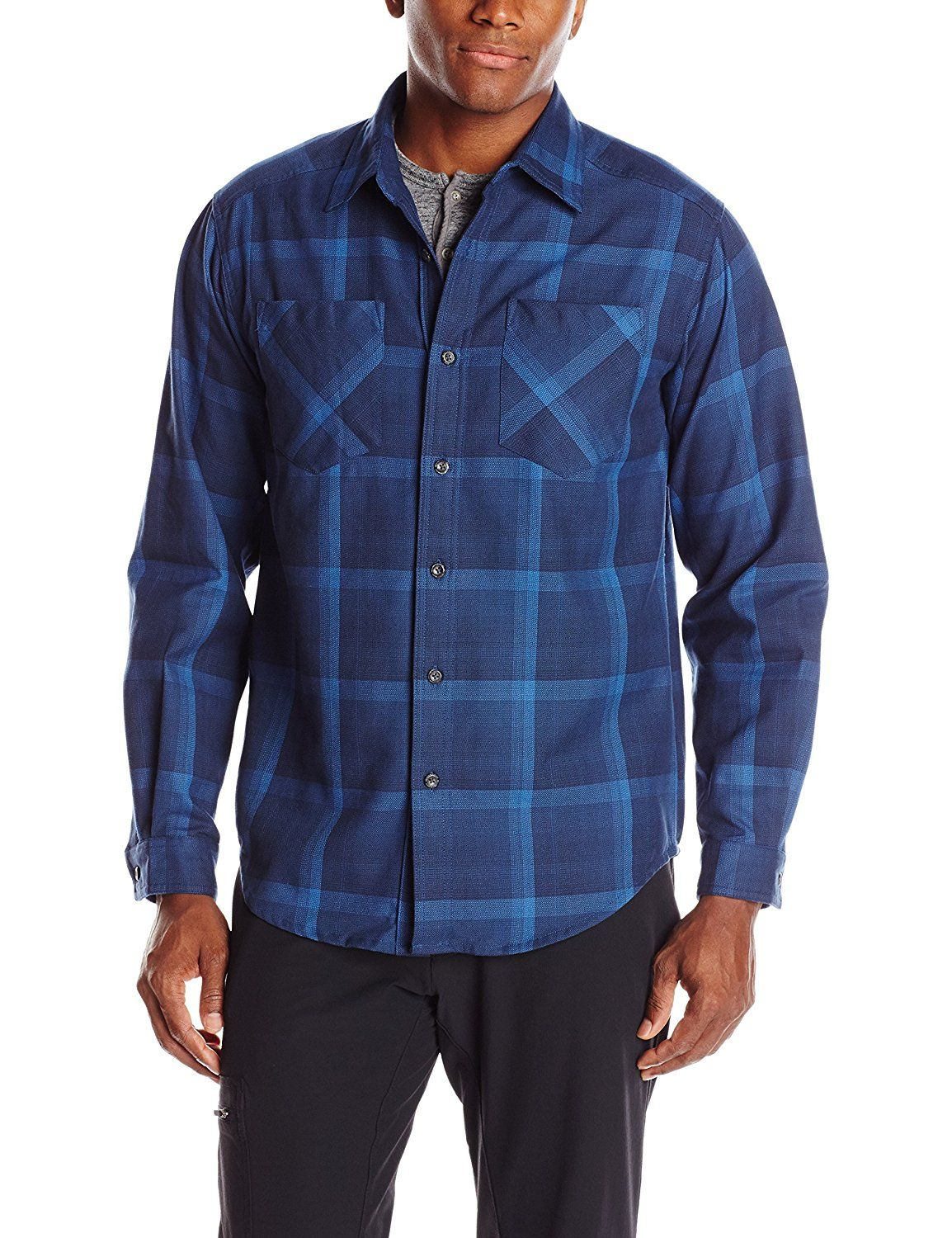 ExOfficio Mens Geode Flannel Long Sleeve Shirt