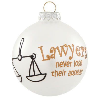 Lawyer Christmas Ornaments