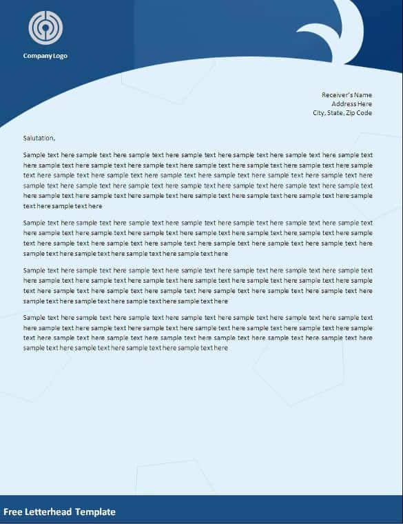 word letterhead templates free samples examples format business - business letter sample word
