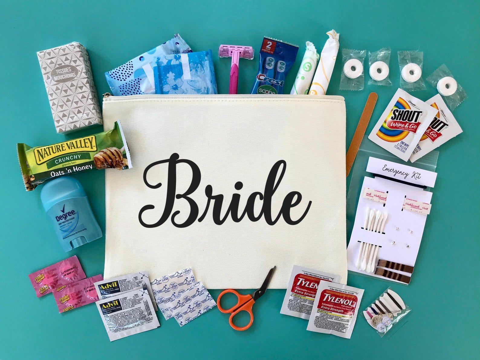 Custom bridal emergency kit large bride survival kit