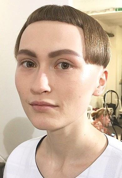 What Do You Think Of This Fashion Models Extreme Hair Super Short Hair Short Bangs Short Fade Haircut