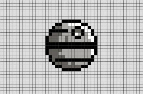 Death Pixel Star Wars Artstar Wars Death Star Pixel Art Star Wars Death Star Pixel Artstar Wars Death Star Pixel Art Grid Cross Stitch Bookmarks Pixel Art