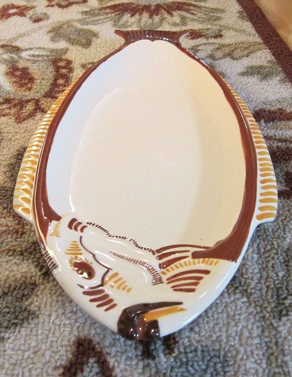 French Quimper Server Master Dish Fish Shaped 1950 Ceramic HB Quimper Henriot France mark 0.0 865 - Country French Decor Shabby Chic | Country french ... & French Quimper Server Master Dish Fish Shaped 1950 Ceramic HB ...
