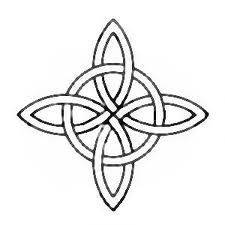 Witches knot, a k a  star knot, compass knot, star cross knot