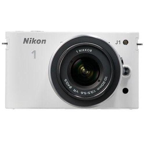 1 J1 Miirrorless Digital Camera With 10mm F/2.8 & 10-30mm F/ 3.5-5.6 Vr Lenses - White