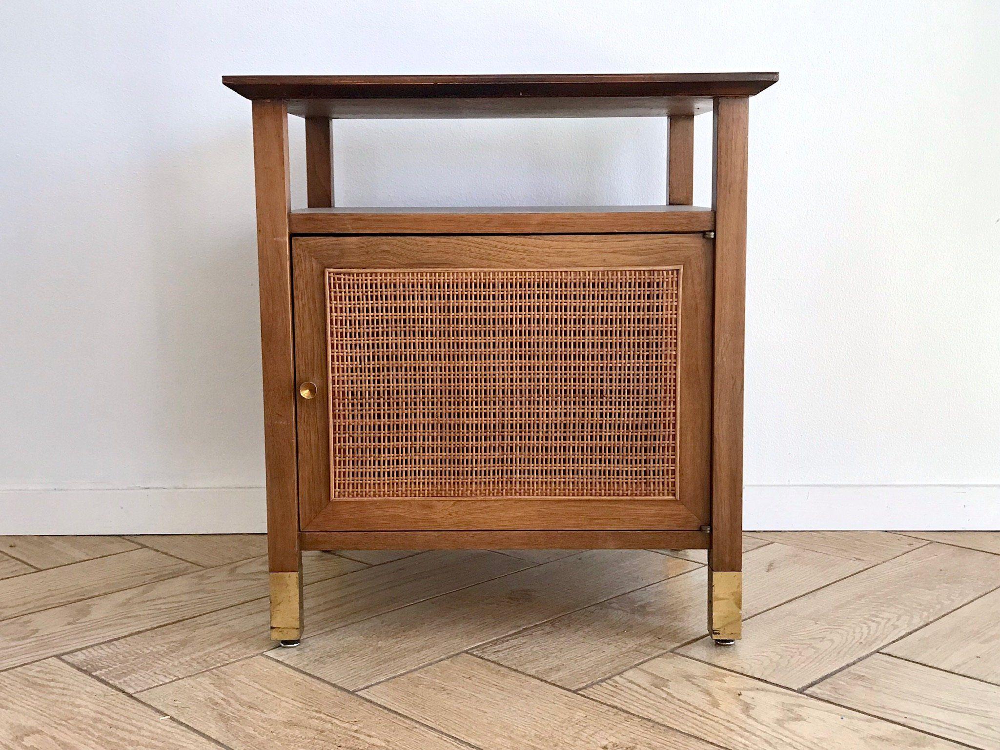 Best Mid Century Modern Nightstand Rattan Door Mcm Side Table 400 x 300