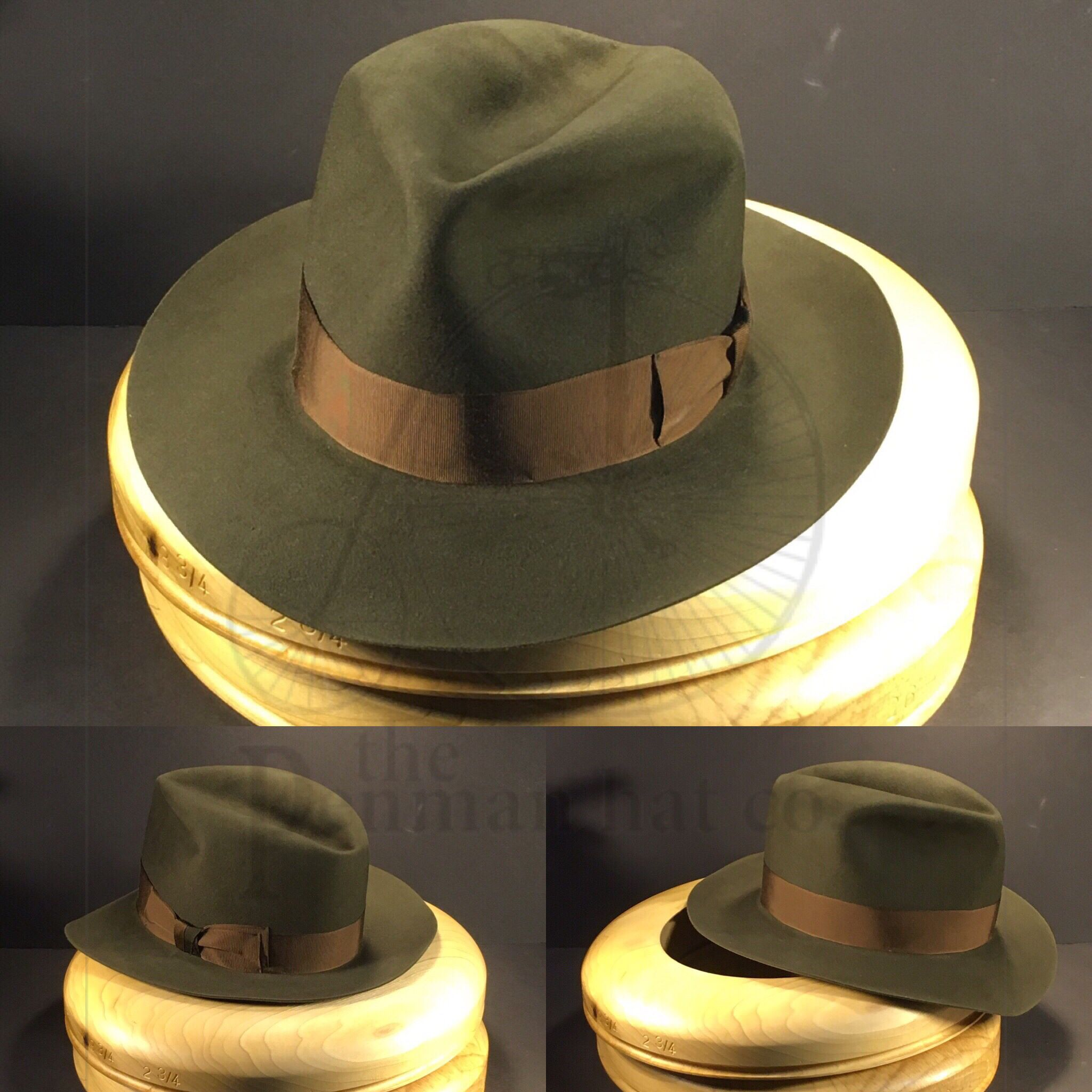 1dc75fa51dc2f Just rapping up the final touches of this Dark Moss with this vintage  Copper grosgrain ribbon.  OnlyPenman  penmanhats