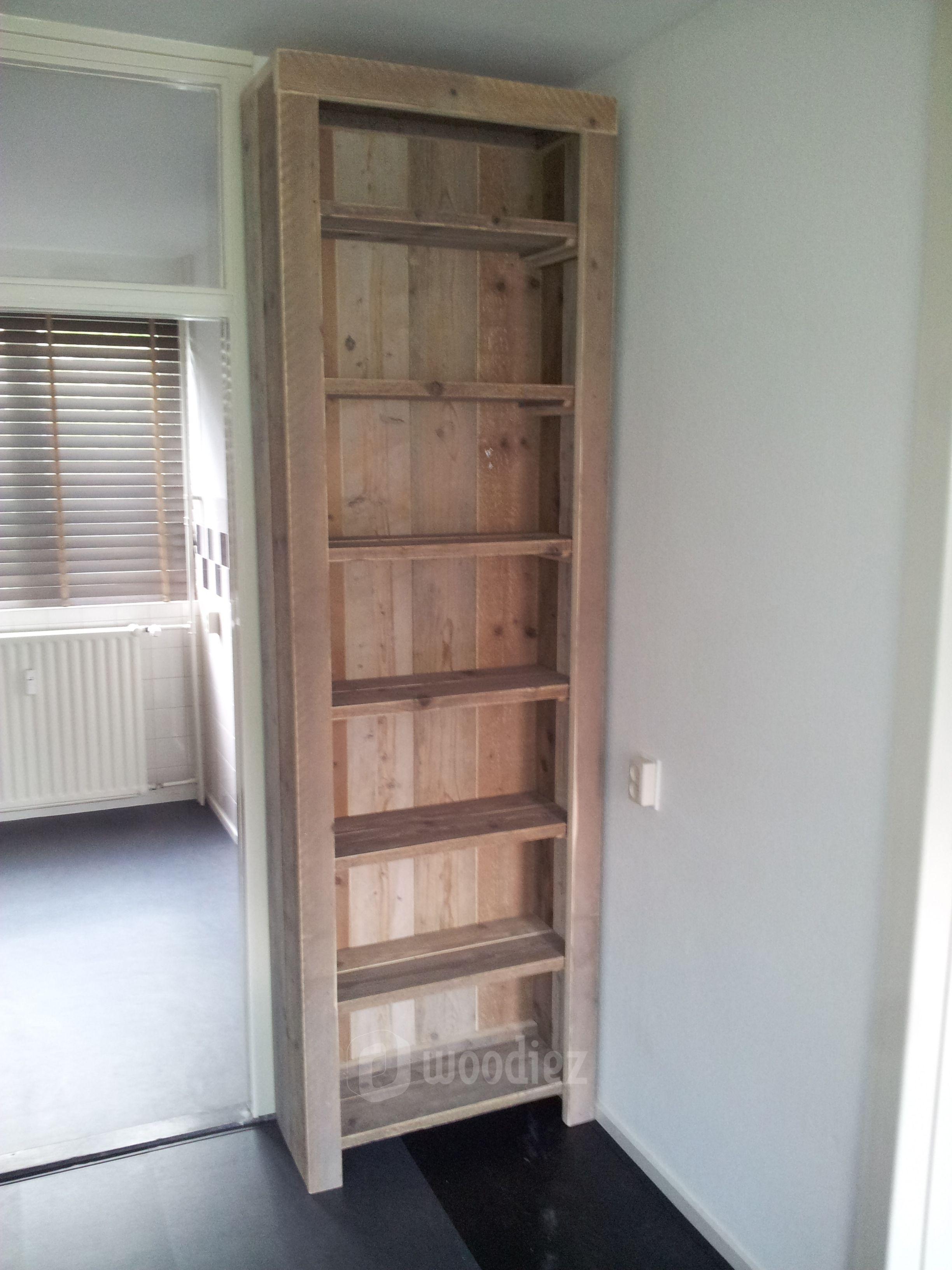 woodiez steigerhouten boekenkast boekenkast steigerhout