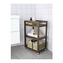 MOLGER Carrello, marrone scuro - 33x47x76 cm - IKEA | Bagno ...