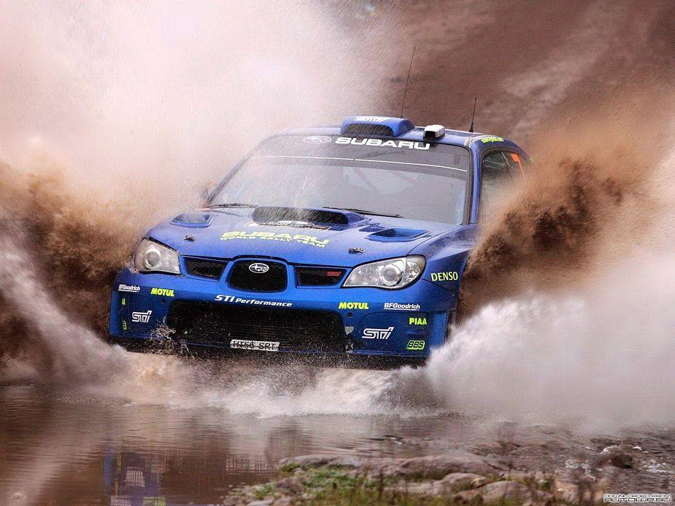 2012 Subaru WRX STI Rally racing through mud. #Racing #Speed #Power ...
