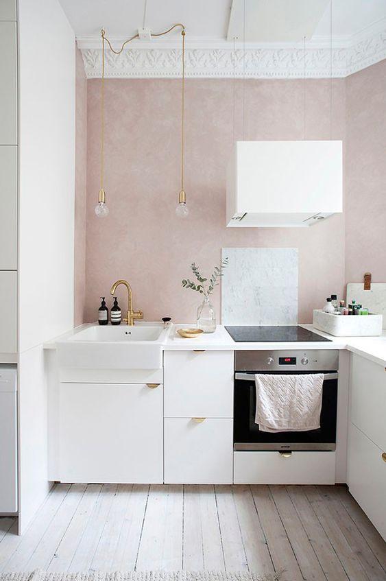 Cocinas pequeñas modernas 2018 | Pinterest | Paredes pintadas ...