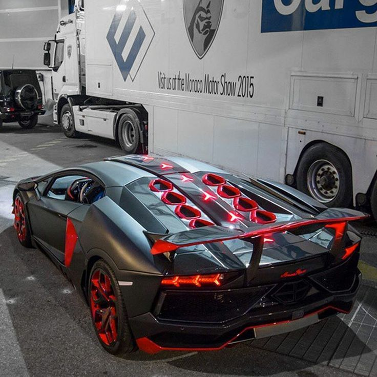 Lamborghini Aventador Zwart Rood Gp Getunte Autos Heisse Autos