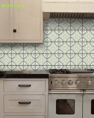 Sea Salt Moroccan Style Tile Wall Decals Vinyl Stickers Home Decor - Vinyl wall decals backsplash