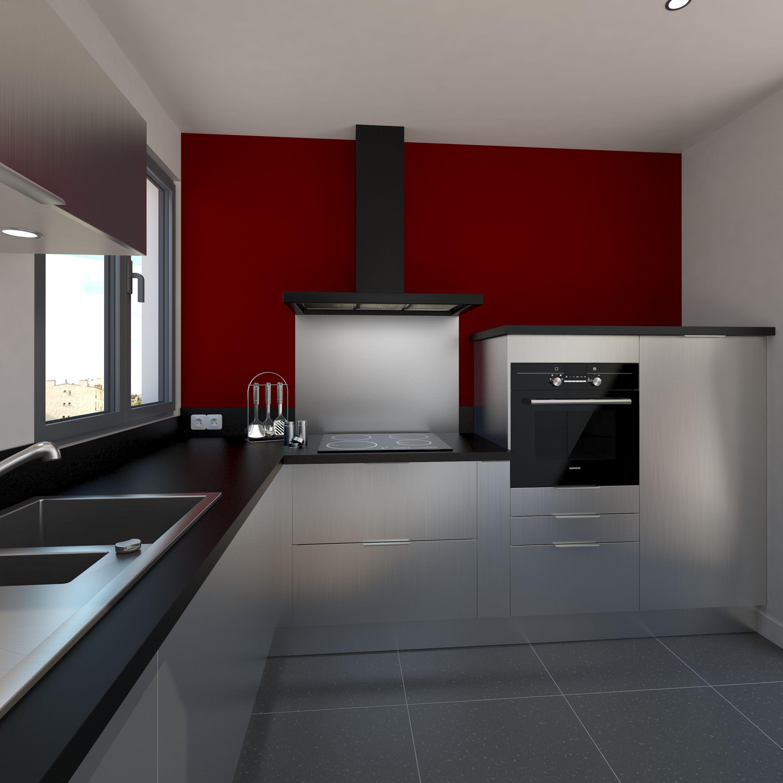 cuisine design tout inox meubles fond de hotte vier de cuisine et accessoires au style semi. Black Bedroom Furniture Sets. Home Design Ideas