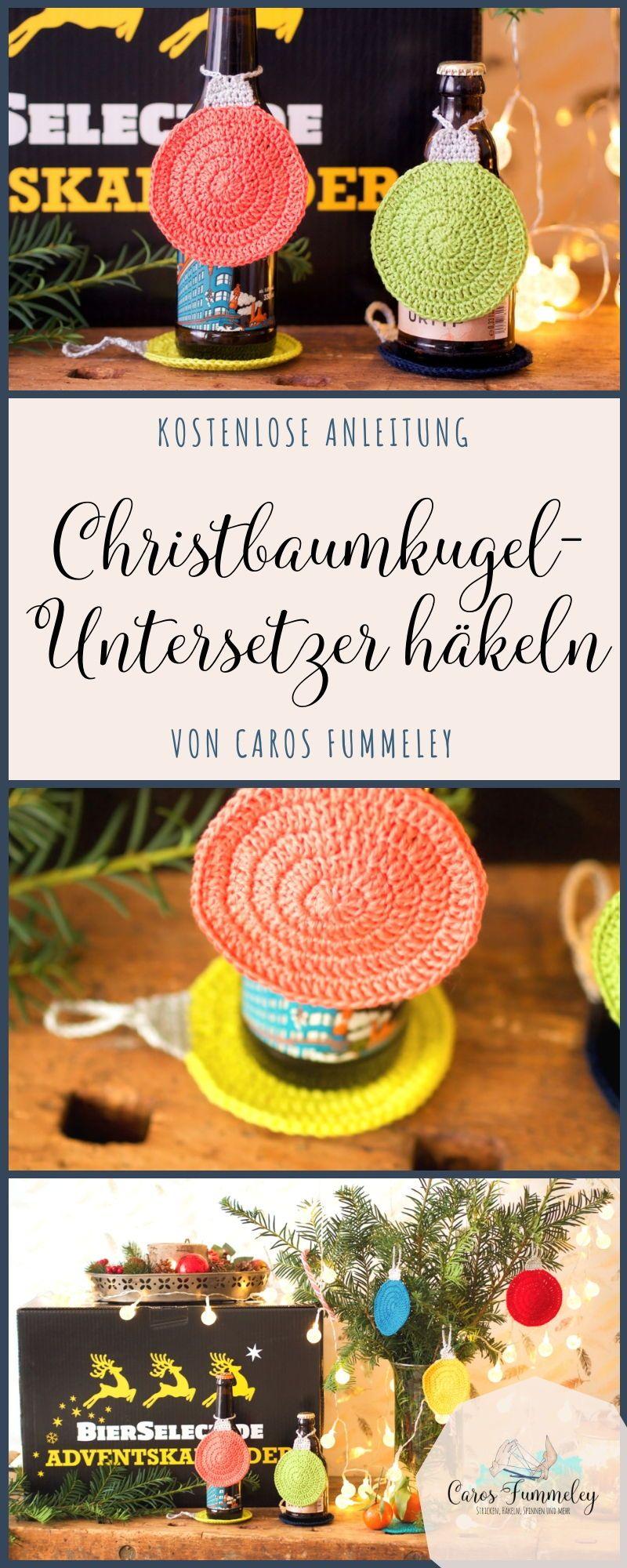 [Anzeige] Christbaumkugel-Untersetzer häkeln #crochetedearrings