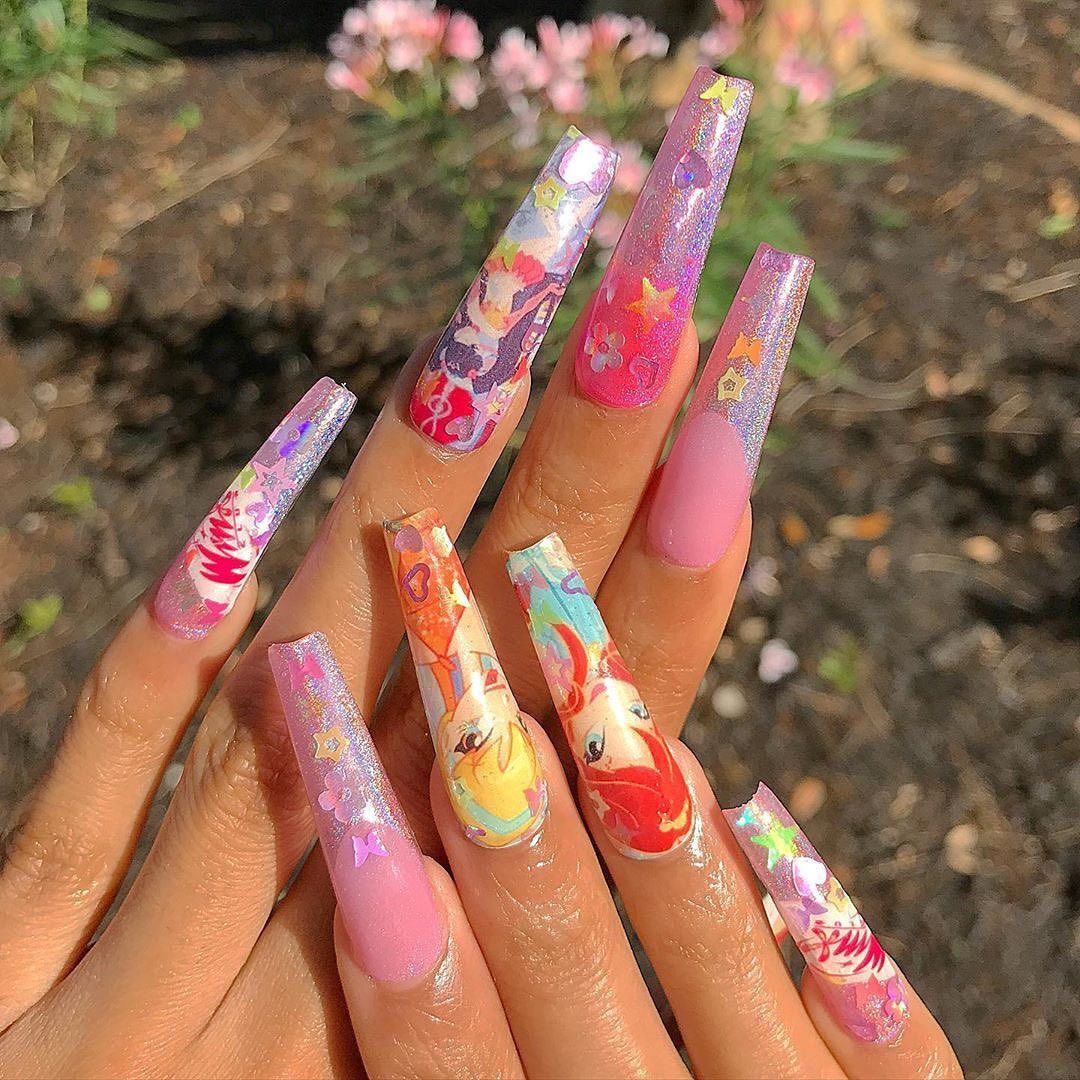 Dippy Cow Nails Dippycownails Posted On Instagram I Can T She S Done It Again Femi Beauty U In 2020 Short Acrylic Nails Designs Cow Nails Short Acrylic Nails