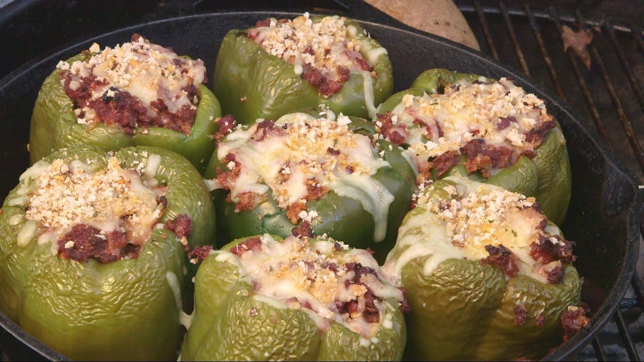 Stuffed Peppers By The Bbq Pit Boys Pit Boys Stuffed Peppers Bbq Pitmasters