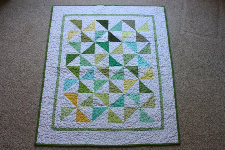 Children's Reversible Pinwheel Quilt. $68.00, via Etsy.