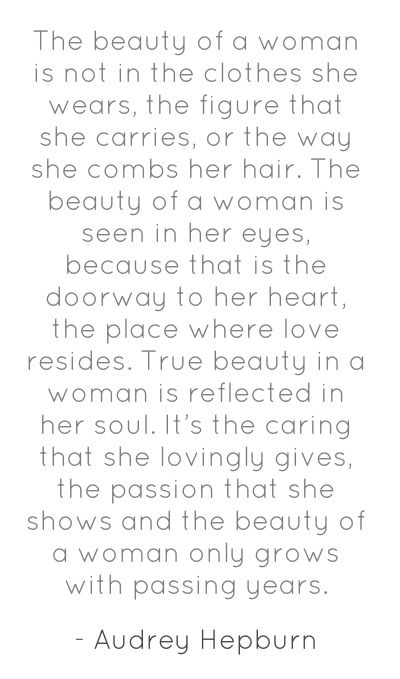 The Beauty Of A Woman Is Not In The Clothes Sage Words Pinterest