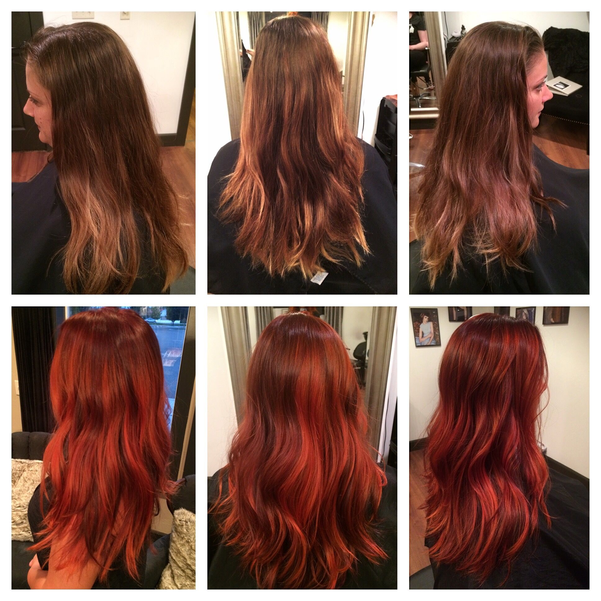Before After Balayage Fashion Tone Red Hair With Images
