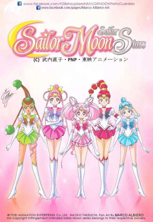 Sailor Chibi Moon & Sailor Quartet by marco albiero