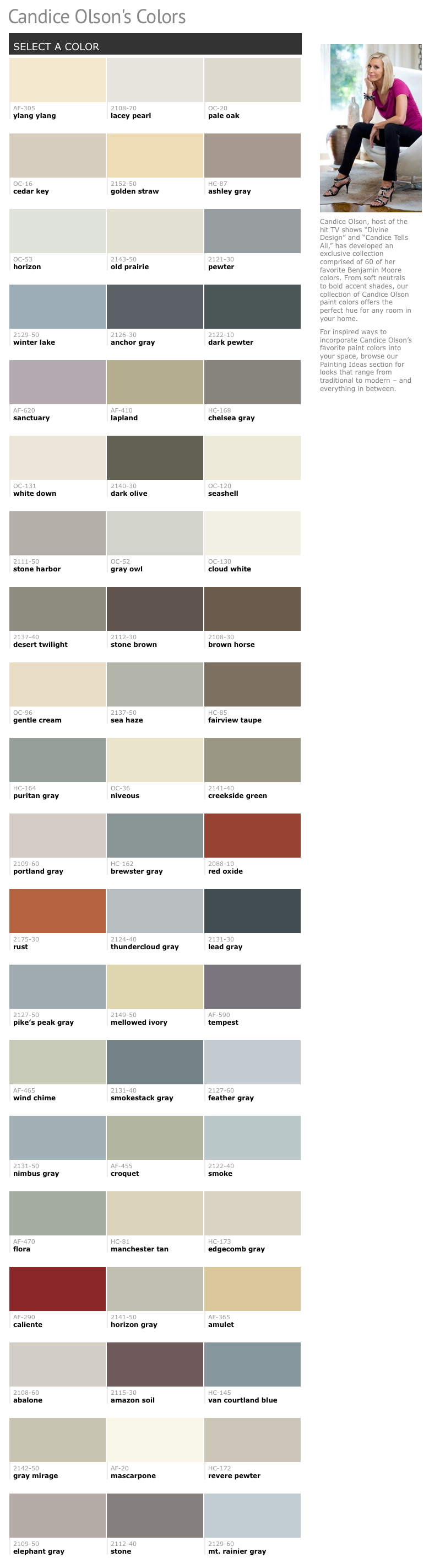 60 Of Candice Olson S Favorite Benjamin Moore Paint Colors Favorite Paint Colors Paint Colors For Home Favorite Paint