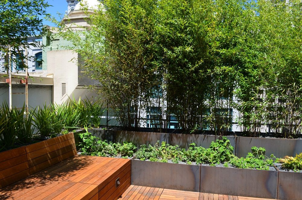 Corten Steel Planters Green Roof Terrace Nice Planter