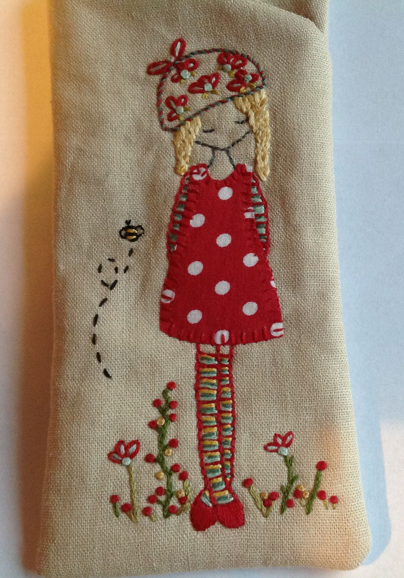 Spectacles pouch made using Irish linen and Lilipopo ...