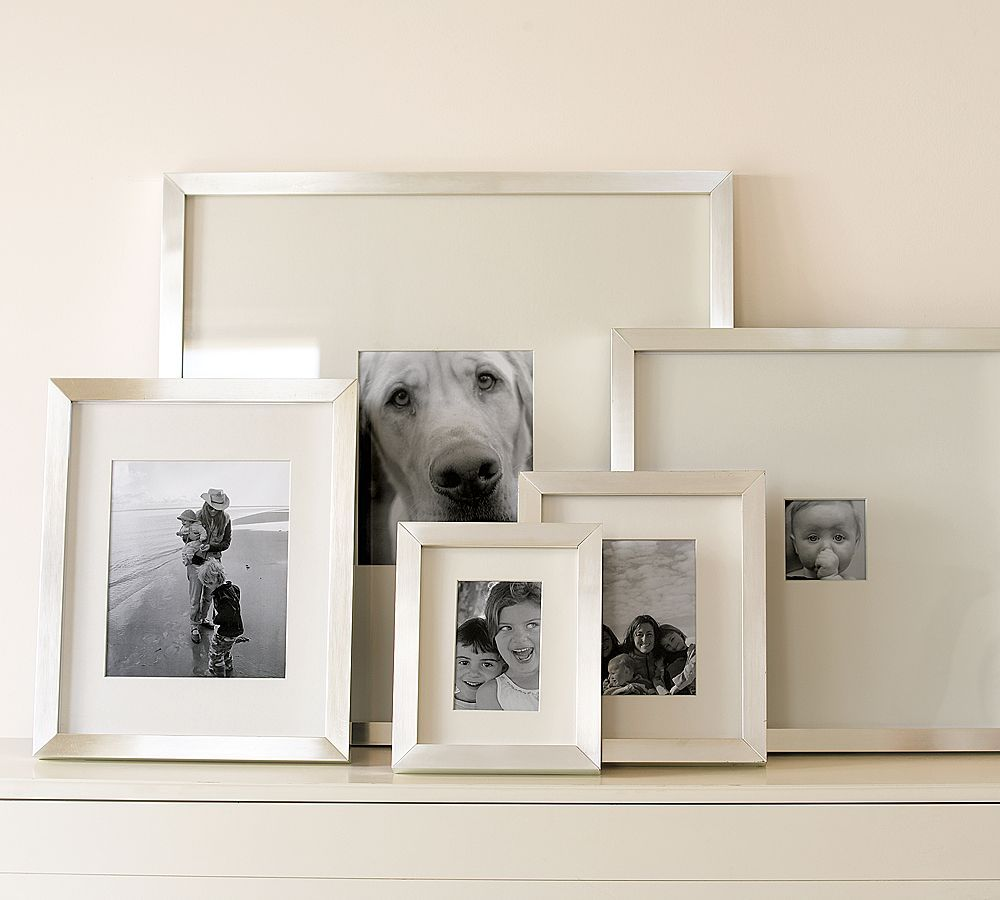 Lee gallery frames dwell pinterest wall photo collages i like the silvery finish on these frames lee gallery frames from pottery barn jeuxipadfo Images