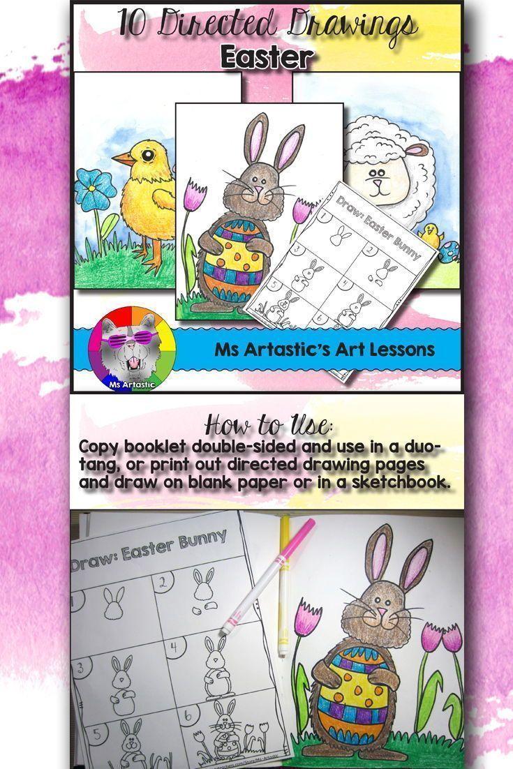 Easter Directed Drawing Art Teacher Collaboration Art