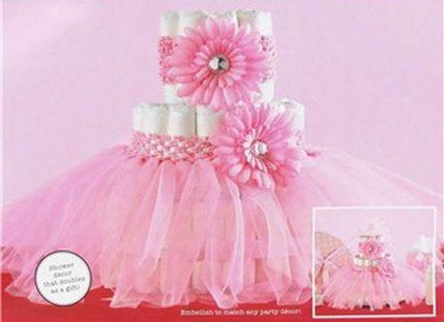 Pictures Of A Tutu Diaper Cake Centerpiece Baby Shower | Pink Tutu Diaper  Cake Girl Baby Shower Fully Assembled | EBay