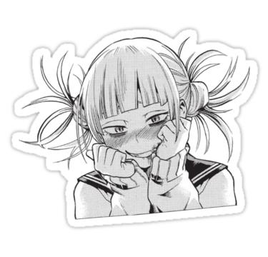 Cute Toga Sticker Sticker By 27elle In 2021 Anime Stickers Cute Stickers Cute Anime Wallpaper