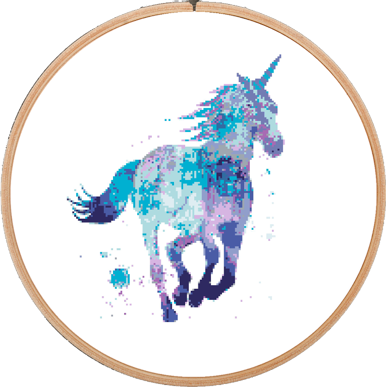 Unicorn Horse Cross Stitch Pattern | Unicornios, Unicornio y Punto ...