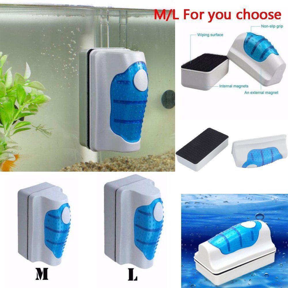 l Pet Supplies Fish & Aquariums Aquarium Fish Tank Floating Magnetic Glass Cleaner Algae Brush Scrubber
