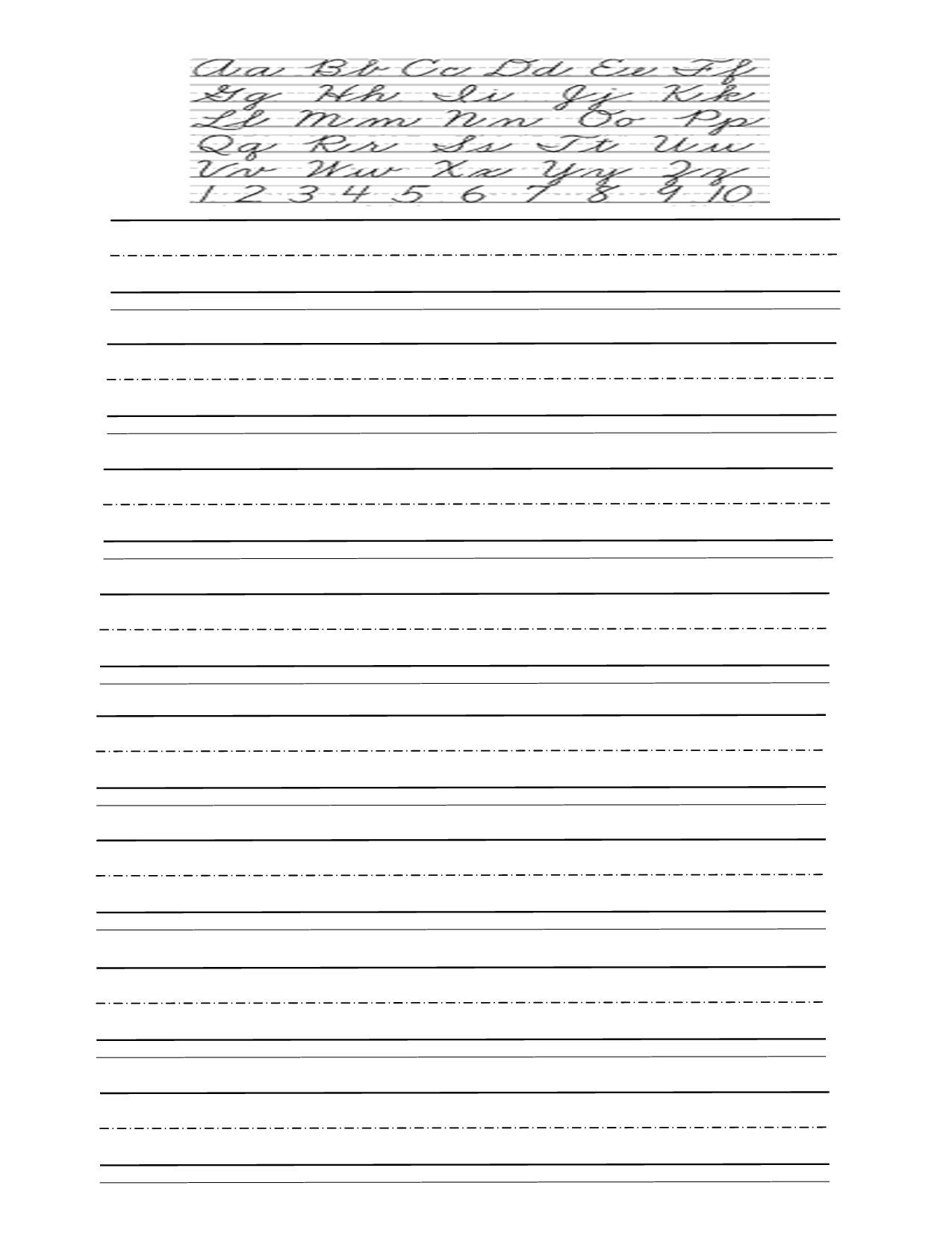 Printable Practice Cursive Writing Worksheets
