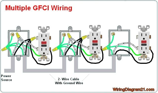 multiple gfci outlet wiring diagram  outlet wiring home