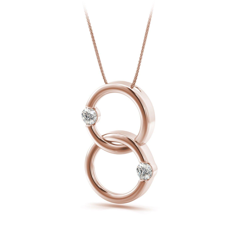 Double circle of love diamond pendant in 14k rose gold 30ctw double circle of love diamond pendant in 14k rose gold 30ctw circleof aloadofball Choice Image