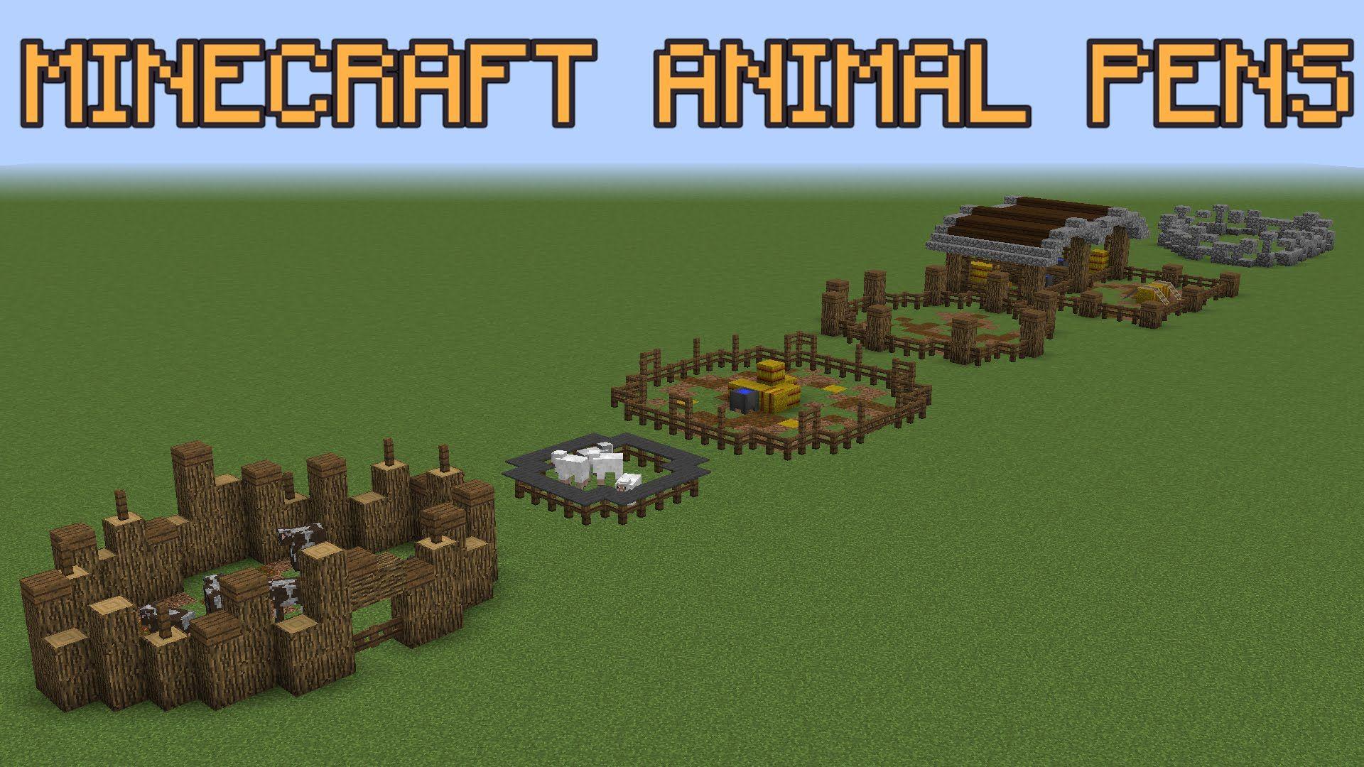 18++ Minecraft animal pen ideas ideas