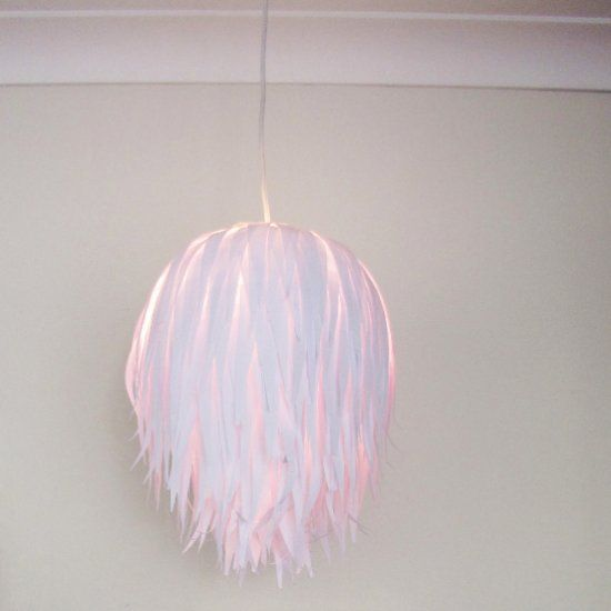 How to make this light shade with a paper lantern, mod podge and scissors, easy and cheap to do and it looks so cool.