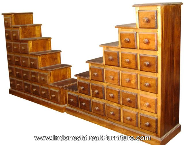 Step Drawers Cabinets Furniture Bali Indonesia